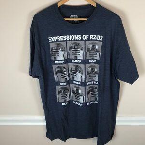 Star Wars R2-D2 Expressions Shirt XXL